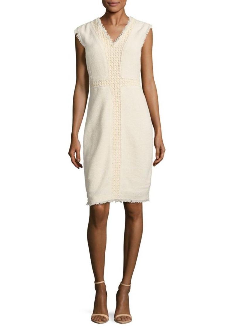 Rebecca Taylor Textured Frayed Dress