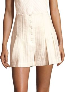 Rebecca Taylor Textured Striped Shorts