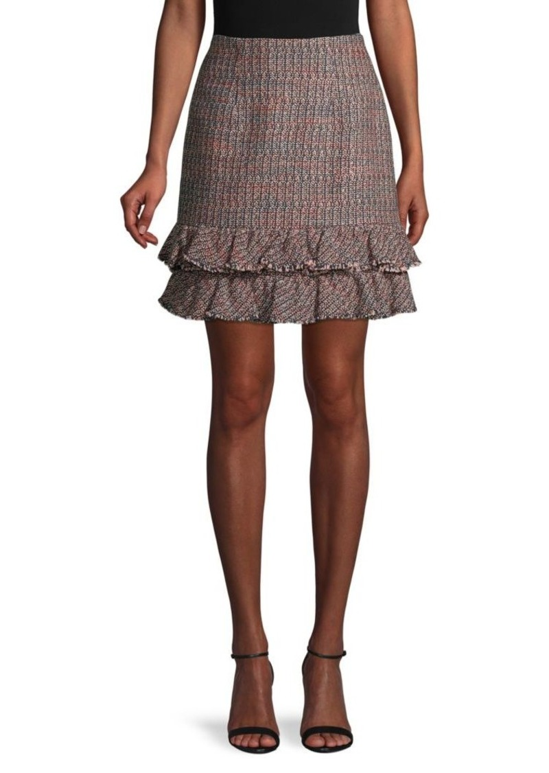 Rebecca Taylor Textured Tweed Skirt