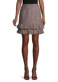 Rebecca Taylor Textured Tweed Skirt