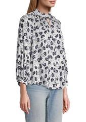 Rebecca Taylor Thistle Fleur Long-Sleeve Blouse