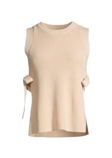Rebecca Taylor Tie Detail Sweater Vest