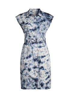 Rebecca Taylor Sleeveless Tie-Dye Belted Dress