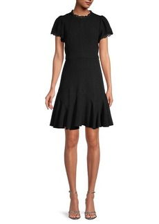 Rebecca Taylor Tweed A-Line Dress