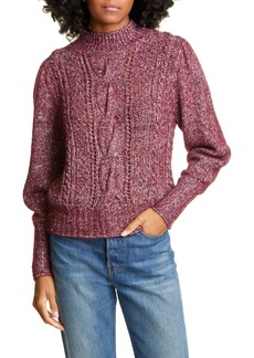 Rebecca Taylor Tweed Cable Pullover