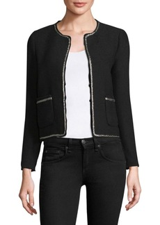 Rebecca Taylor Tweed Embroidered Jacket
