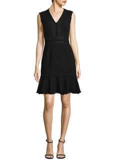 Rebecca Taylor Tweed Lace Shift Dress