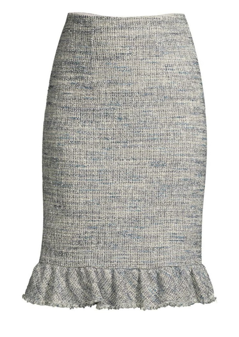 2308c79cdf Rebecca Taylor Tweed Ruffle Hem Skirt Now $157.50