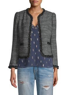 Rebecca Taylor Tweed Ruffle Jacket