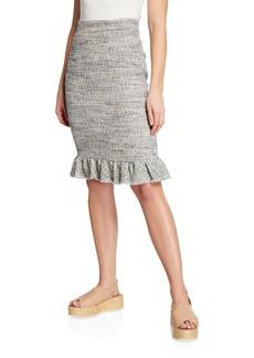 Rebecca Taylor Tweed Ruffle Skirt