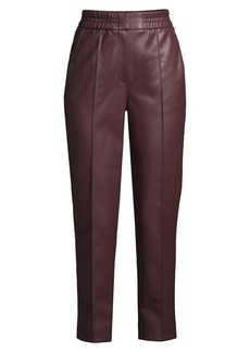 Rebecca Taylor Vegan Leather Track Pants