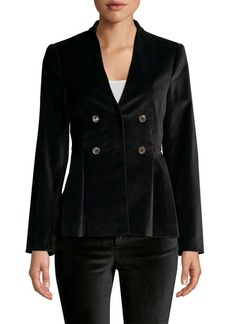 Rebecca Taylor Velveteen Double-Breasted Jacket