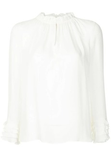 Rebecca Taylor victorian style frills blouse