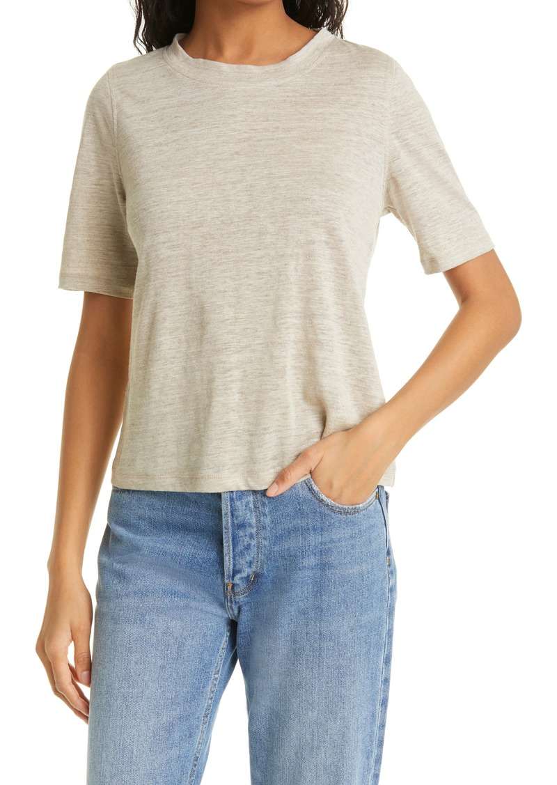 Rebecca Taylor Gauzy Knit Linen Top