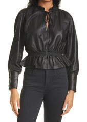 Women's Rebecca Taylor Glove Leather Blouse