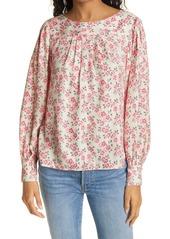 Women's Rebecca Taylor Ikat Fleur Long Sleeve Cotton Blouse