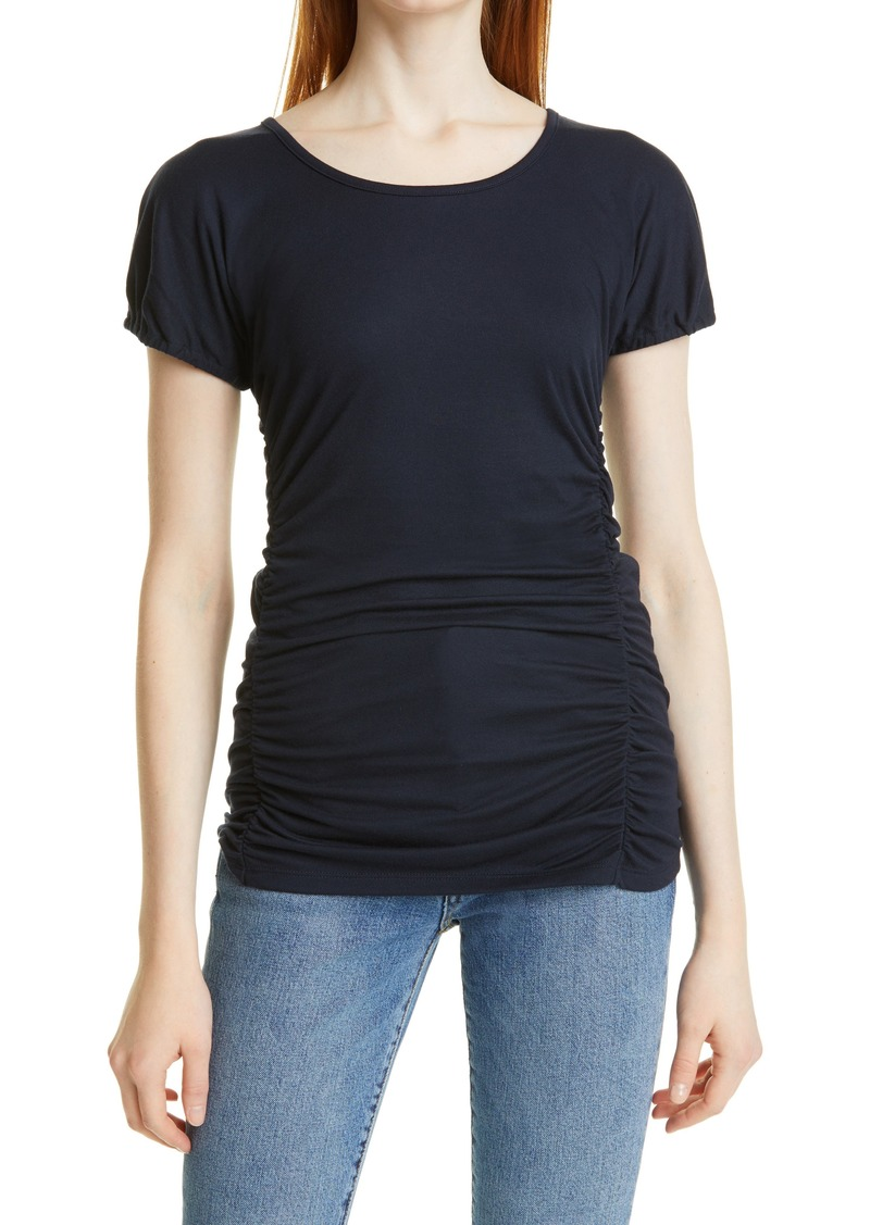 Women's Rebecca Taylor Shirred Short Sleeve Top