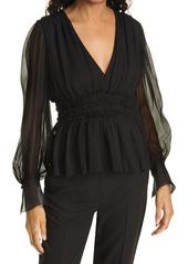 Women's Rebecca Taylor Silk Long Sleeve Blouse