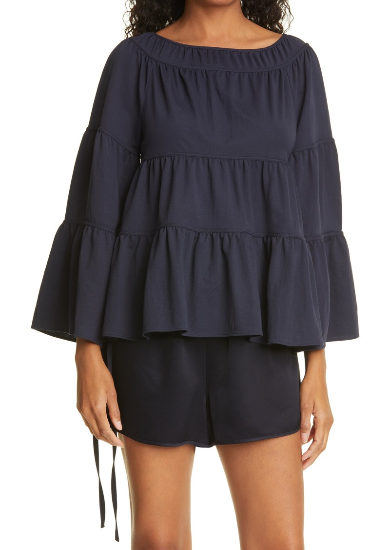 Women's Rebecca Taylor Tiered Pique Top