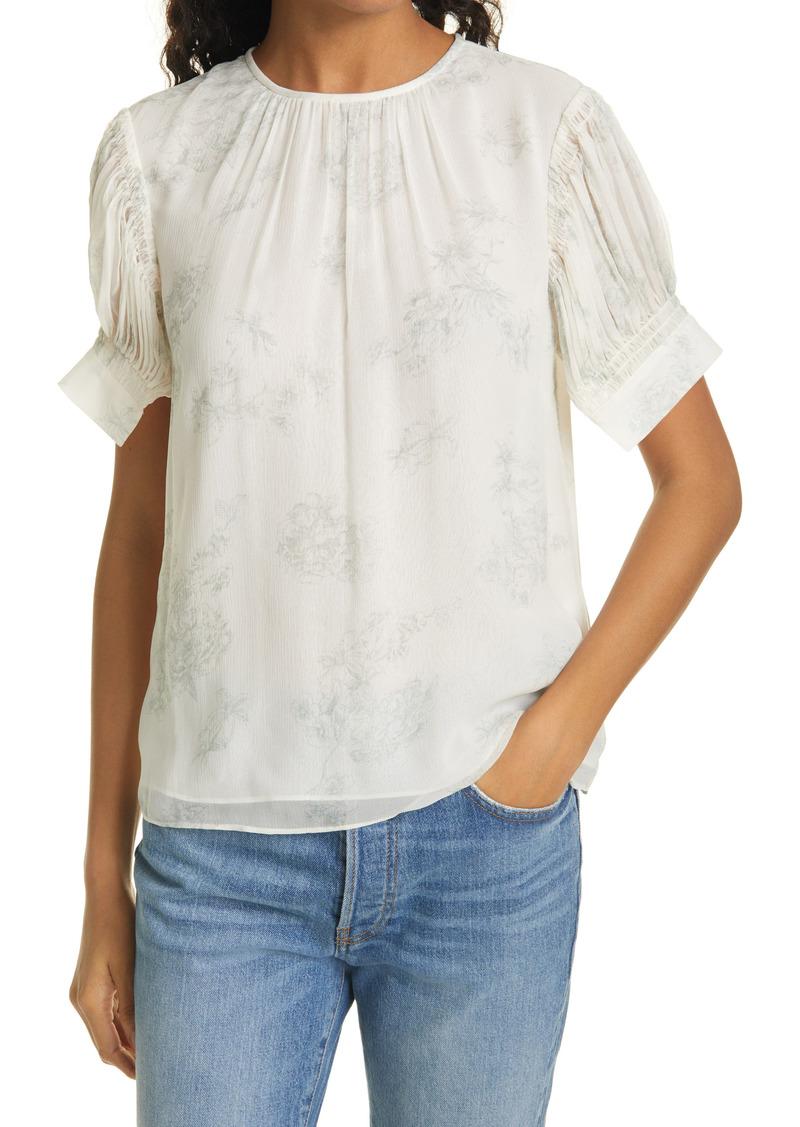 Rebecca Taylor Toile Short Sleeve Blouse