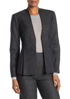 Rebecca Taylor Wool Blend Herringbone Jacket