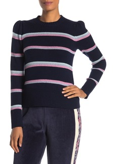 Rebecca Taylor Wool Blend Multi Stripe Pullover