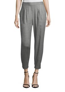 Rebecca Taylor Wool-Flannel Jogger Pants