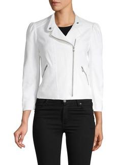 Rebecca Taylor Woven Moto Jacket