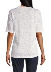 Rebecca Taylor Zadie Floral Linen T-Shirt