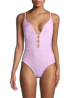 Red Carter Cut-Out 1-Piece Swimsuit