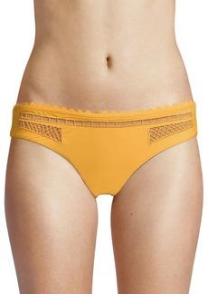 Red Carter Fishnet Hipster Bikini Bottoms