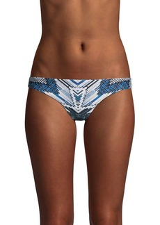 Red Carter Printed Low-Rise Bikini Bottom