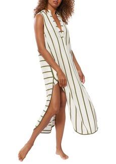 Red Carter Avi Stripe Sleeveless Cover-Up Tunic Dress