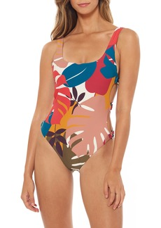 Red Carter Charlie Ring Side One-Piece Swimsuit