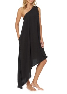 Red Carter One-Shoulder Maxi Cover-Up Dress