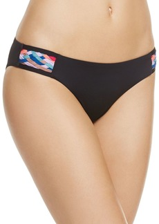 Red Carter Side Tab Woven Bikini Bottom