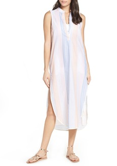 Red Carter Sleeveless Maxi Cover-Up Dress