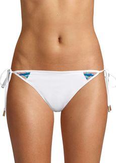 Red Carter Side-Tie Bikini Bottom