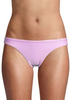 Red Carter Striped Bikini Bottom