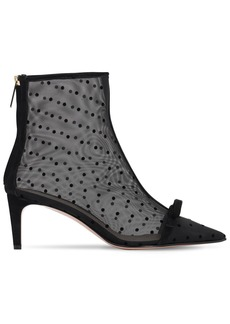 RED Valentino 60mm Sandie Mesh Ankle Boots