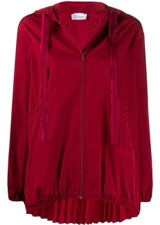 RED Valentino A-line pleated zipped jacket