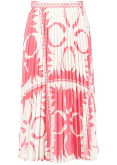 RED Valentino abstract floral print pleated skirt