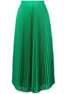 RED Valentino accordion pleat skirt