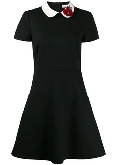 RED Valentino appliqué detail fitted dress