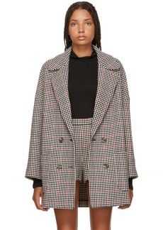 RED Valentino Black & Red Houndstooth Coat