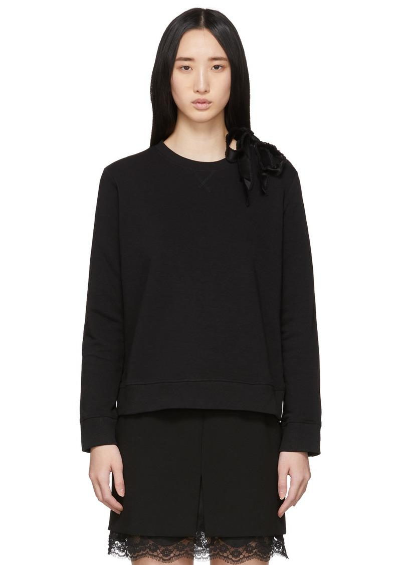 RED Valentino Black Ballet Sweatshirt
