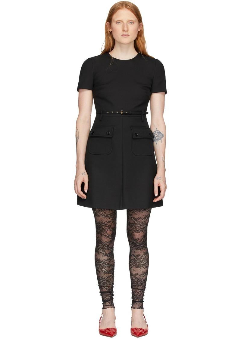 RED Valentino Black Front Pockets Dress