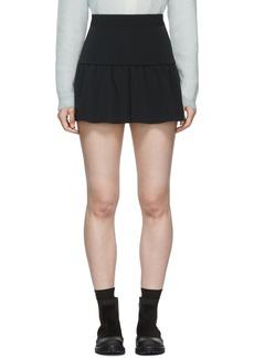 RED Valentino Black Gathered Miniskirt