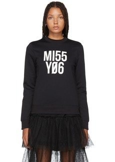RED Valentino Black 'Miss You' Sweater