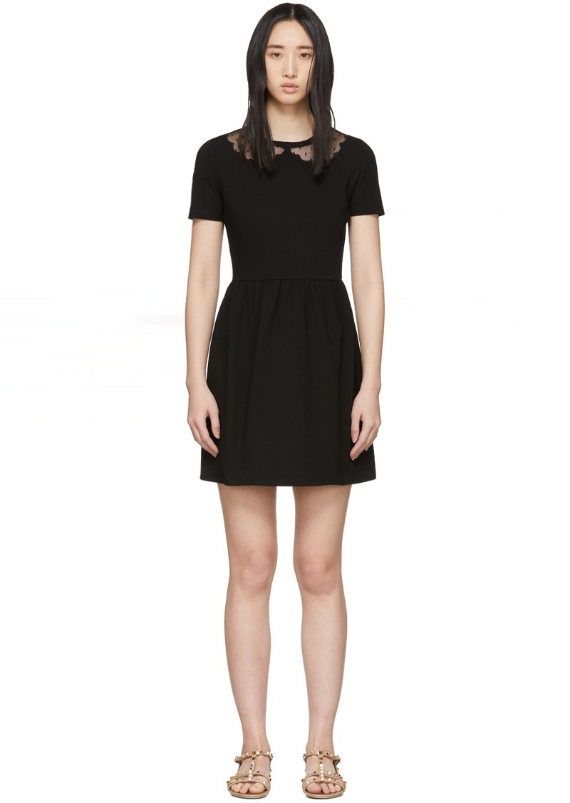 RED Valentino Black Punto Milano Dress